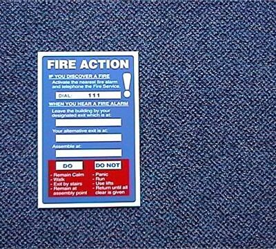(PVC) Fire Action Sign